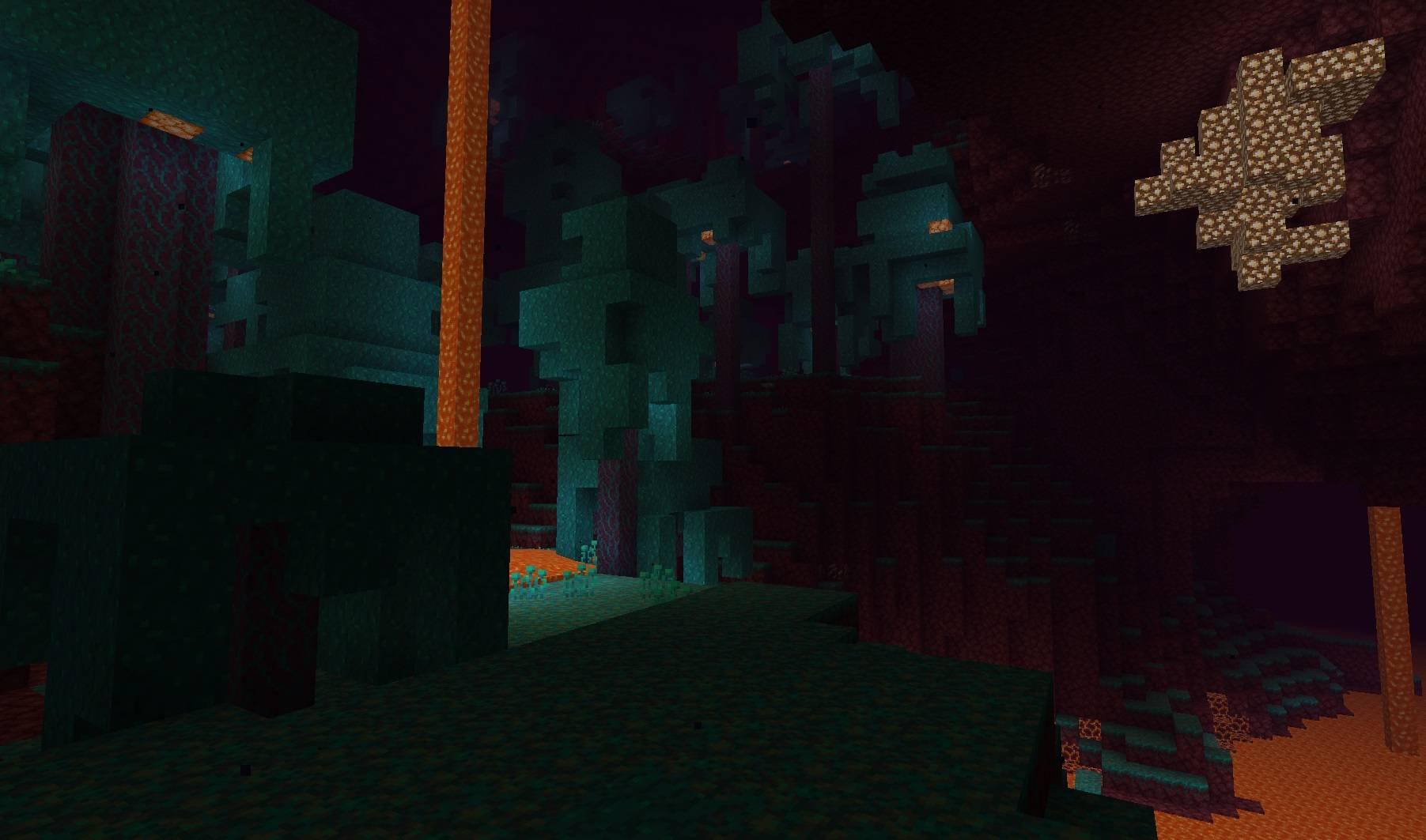 warped forest wypaczony las minecraft