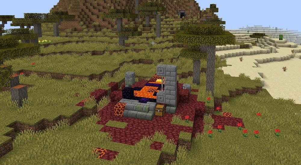 zrujnowany portal netheru minecraft img3