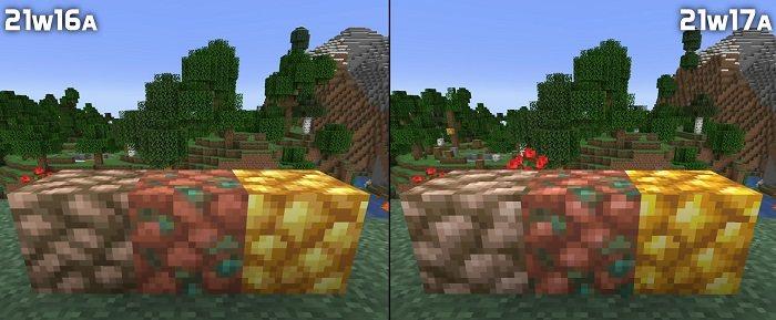 bloki rud zelaza miedzi zlota nowe tekstury 21w17a