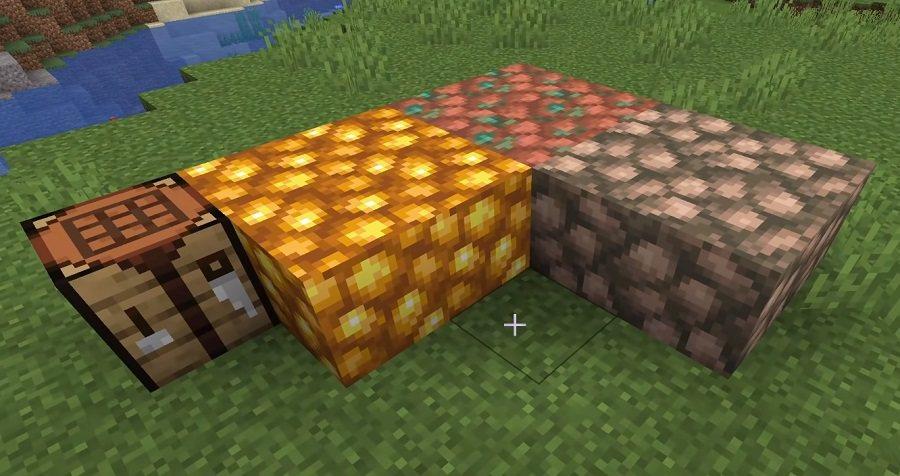 bloki surowego metalu miedzi zlota zelaza