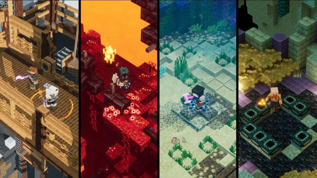cztery nowe dodatki DLC Minecraft Dungeons na rok 2021