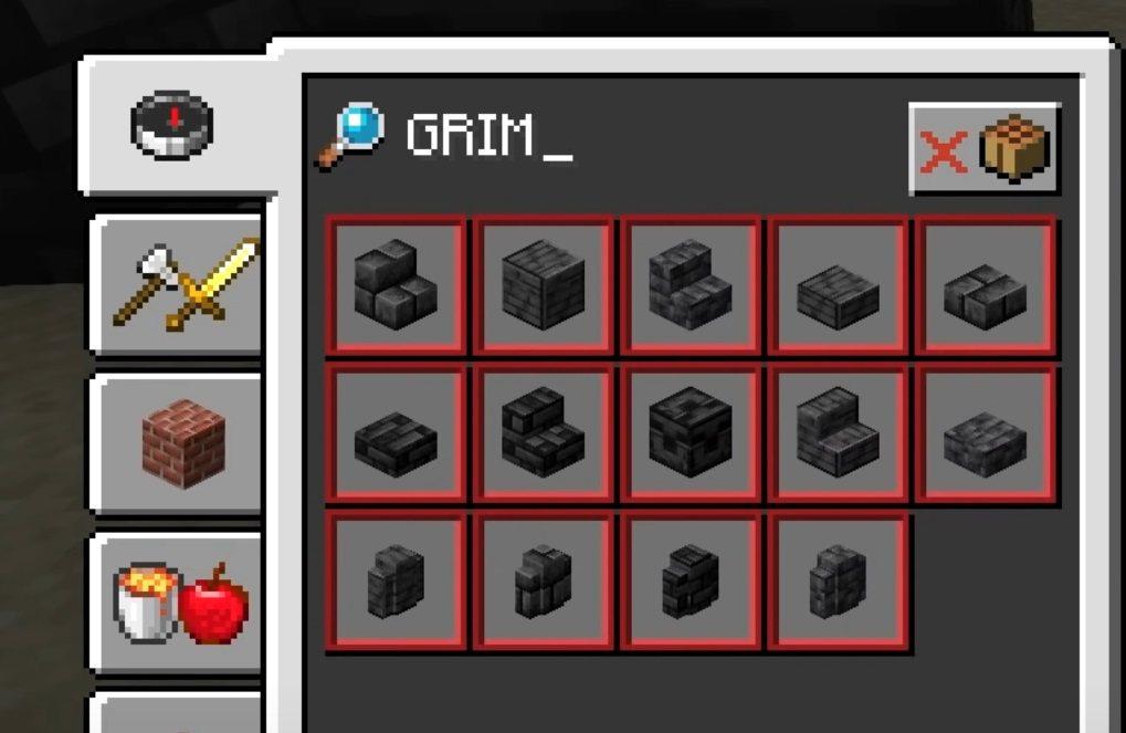 grimstone spis receptur snapshot 21w07a minecraft