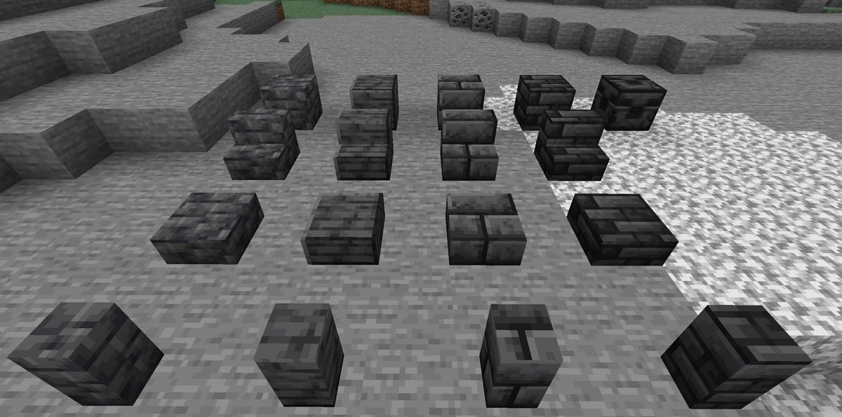 grimstone wszystkie warianty snapshot 21w07a minecraft