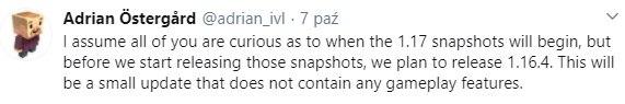 kiedy minecraft 1.17 aktualizacja jaskin