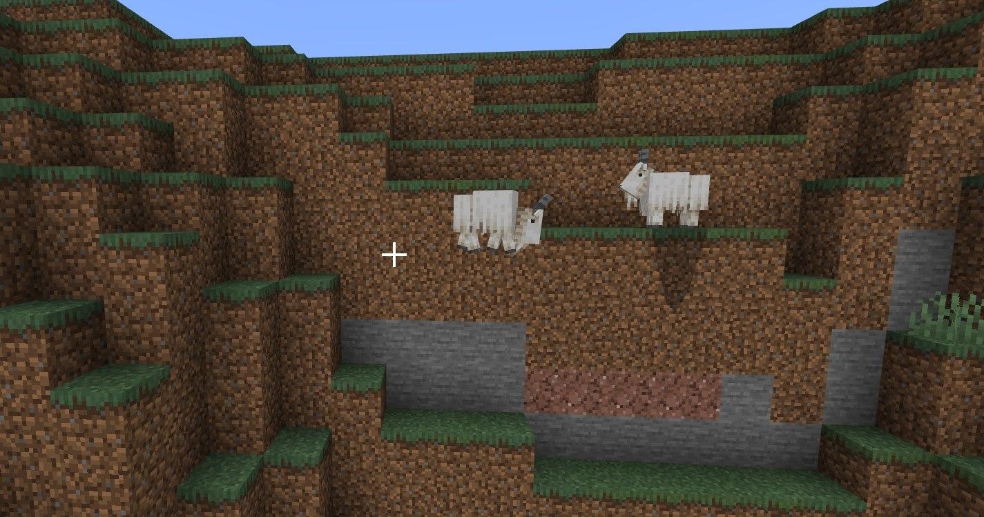 koza w minecraft beta skacze po klifie
