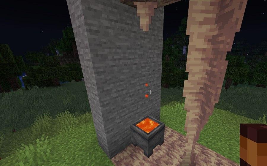 lawa kapiaca ze stalaktytu do kociolka minecraft