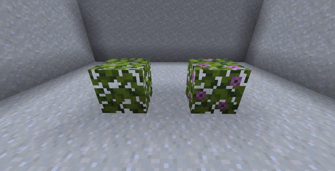 liscie azalii liscie kwitnacej azalii snapshot 21w05a minecraft