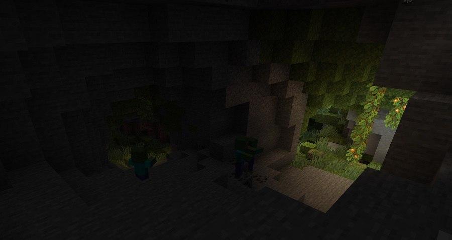 lush caves bujne jaskinie minecraft 1.17 img1