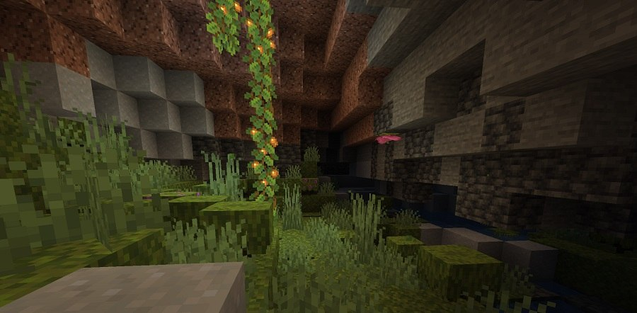 lush caves bujne jaskinie minecraft 1.17 img2