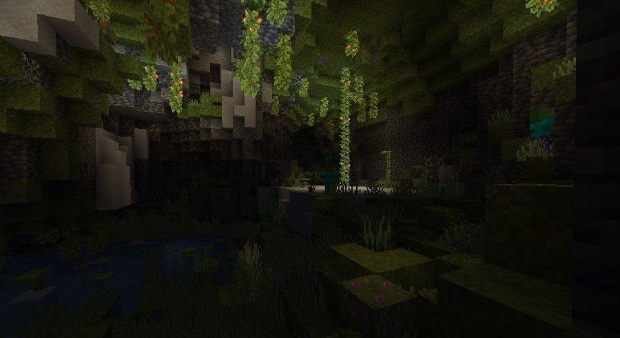 lush caves bujne jaskinie minecraft 1.17 img3
