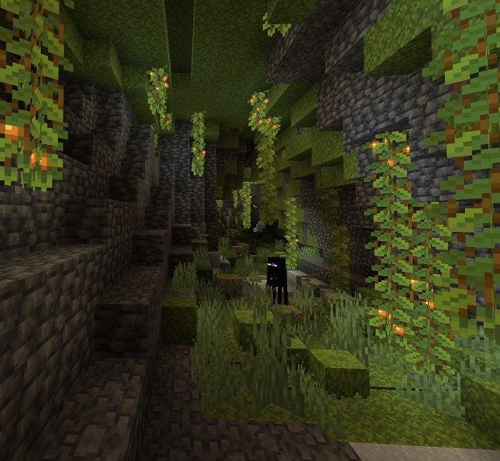 lush caves bujne jaskinie minecraft 1.17 img4