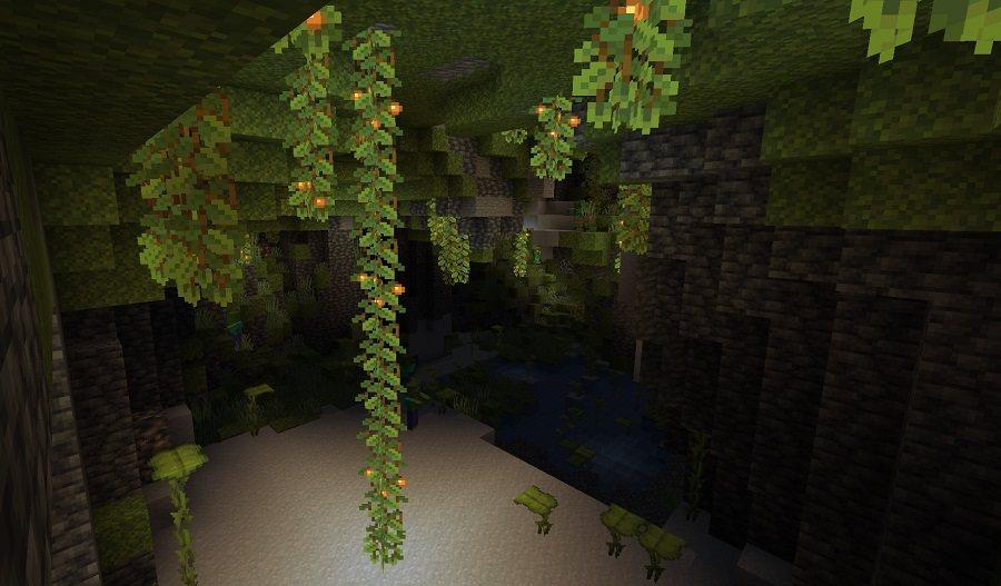 lush caves bujne jaskinie minecraft 1.17 img6