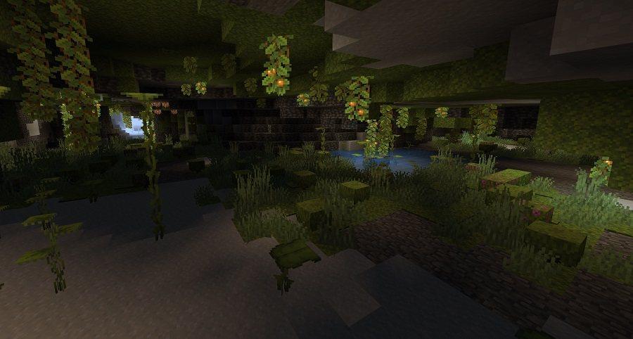 lush caves bujne jaskinie minecraft 1.17 img7