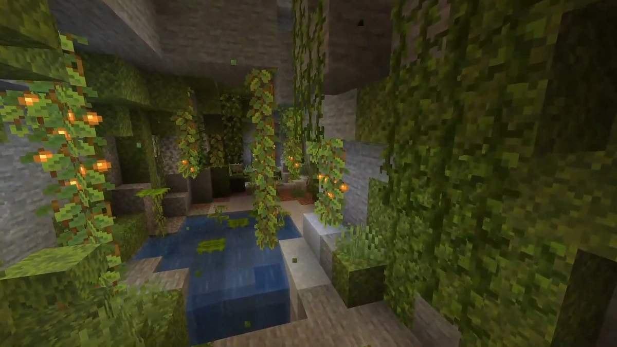 minecraft jaskinie roslinne 1