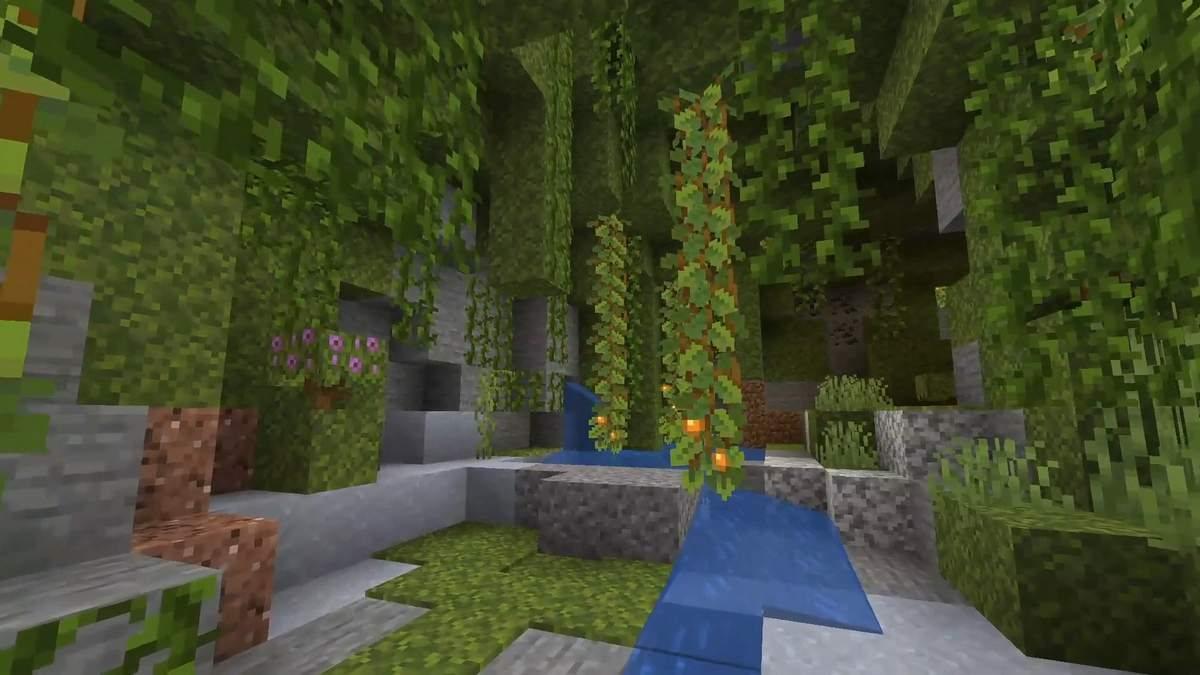 minecraft jaskinie roslinne 2