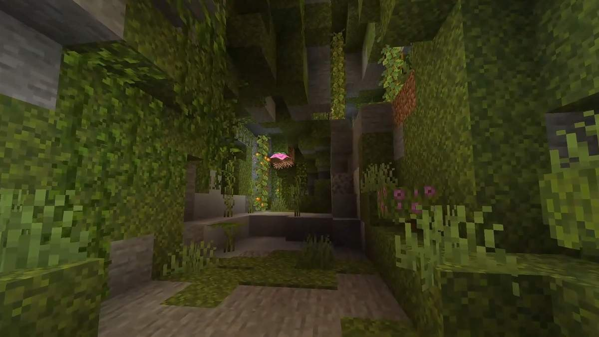 minecraft jaskinie roslinne 3