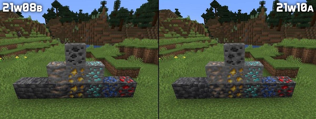 nowe tekstury rud minecraft 1.17 img2