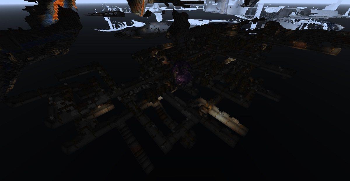 ogromny kompleks podziemnych kopalni ponizej poziomu zero minecraft snapshot 21w06a
