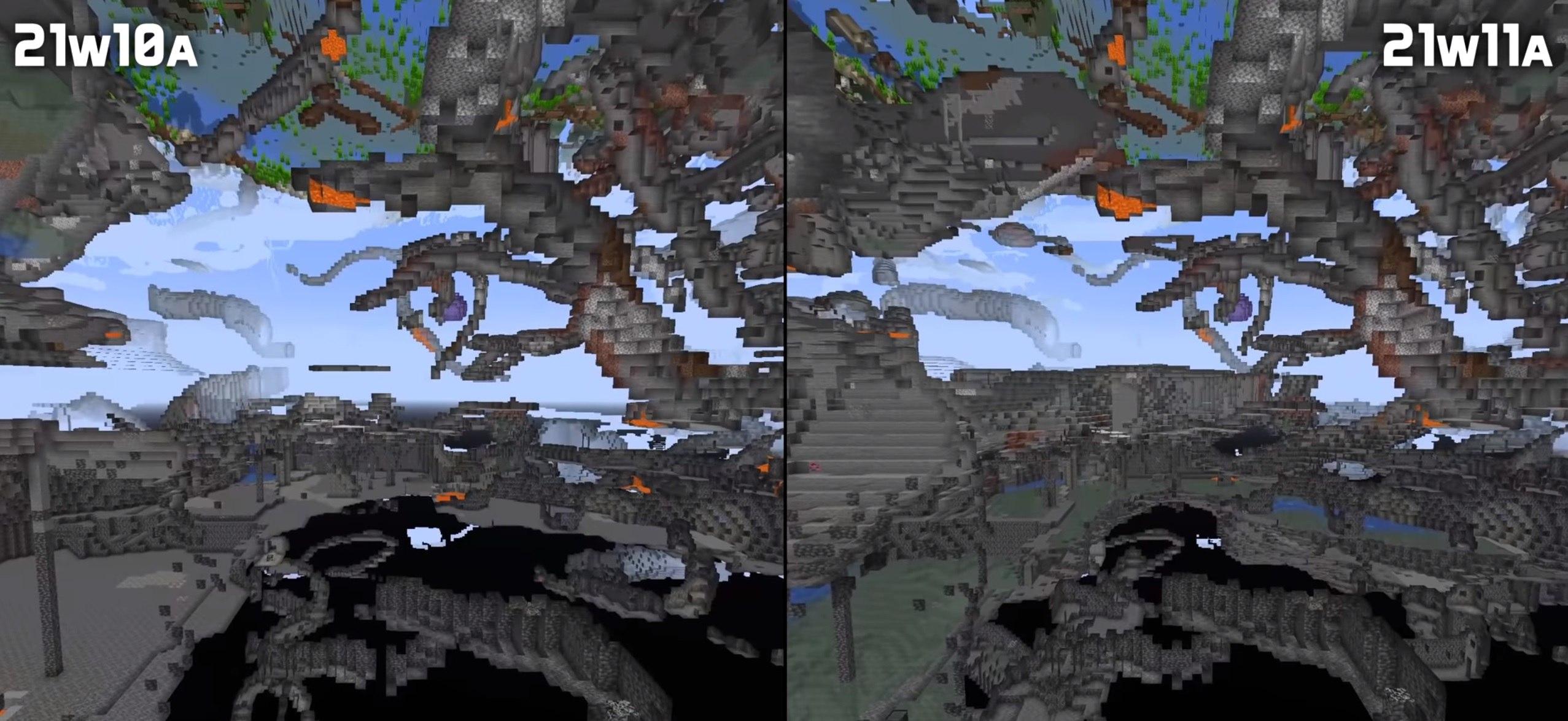 snapshot 21w11a jaskinie