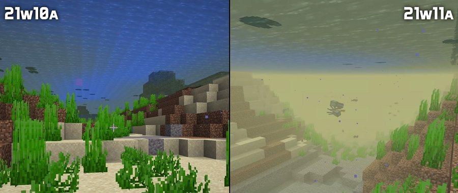 snapshot 21w11a poprawiona mgla pod woda minecraft