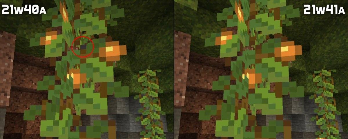 snapshot 21w41 tekstury swiecace jagody minecraft 1.18