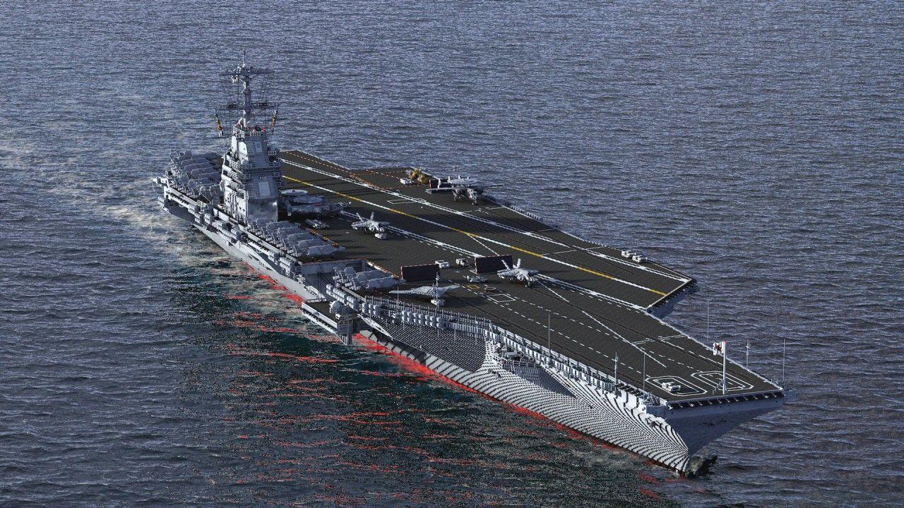 Modern Aircraft Carrier minecraft model