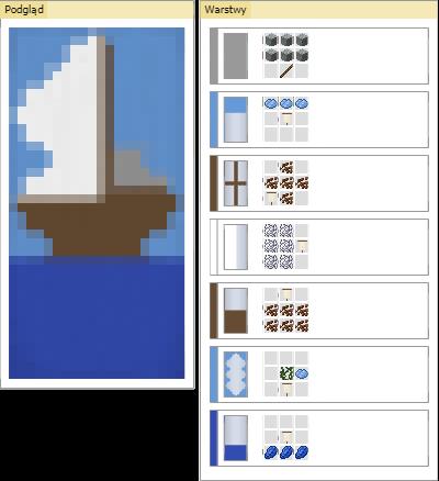 baner statek minecraft