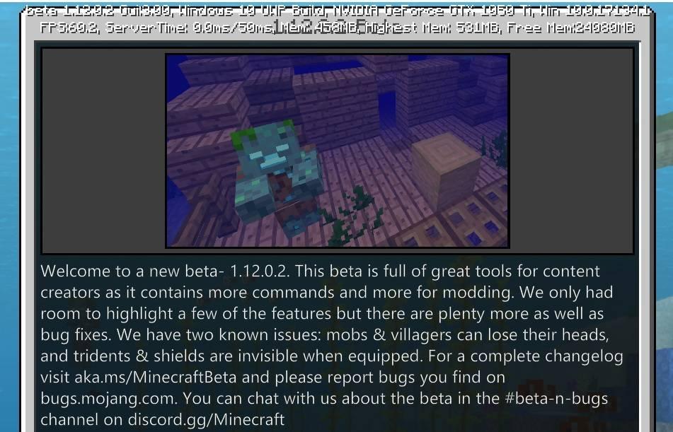 1.12.0.2 beta bedrock edition minecraft zdj 1