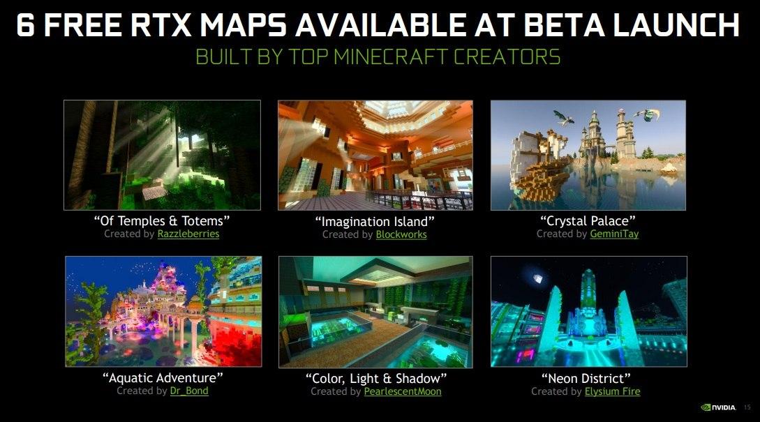 6 darmowych map RTX podczas startu bety minecraft rtx