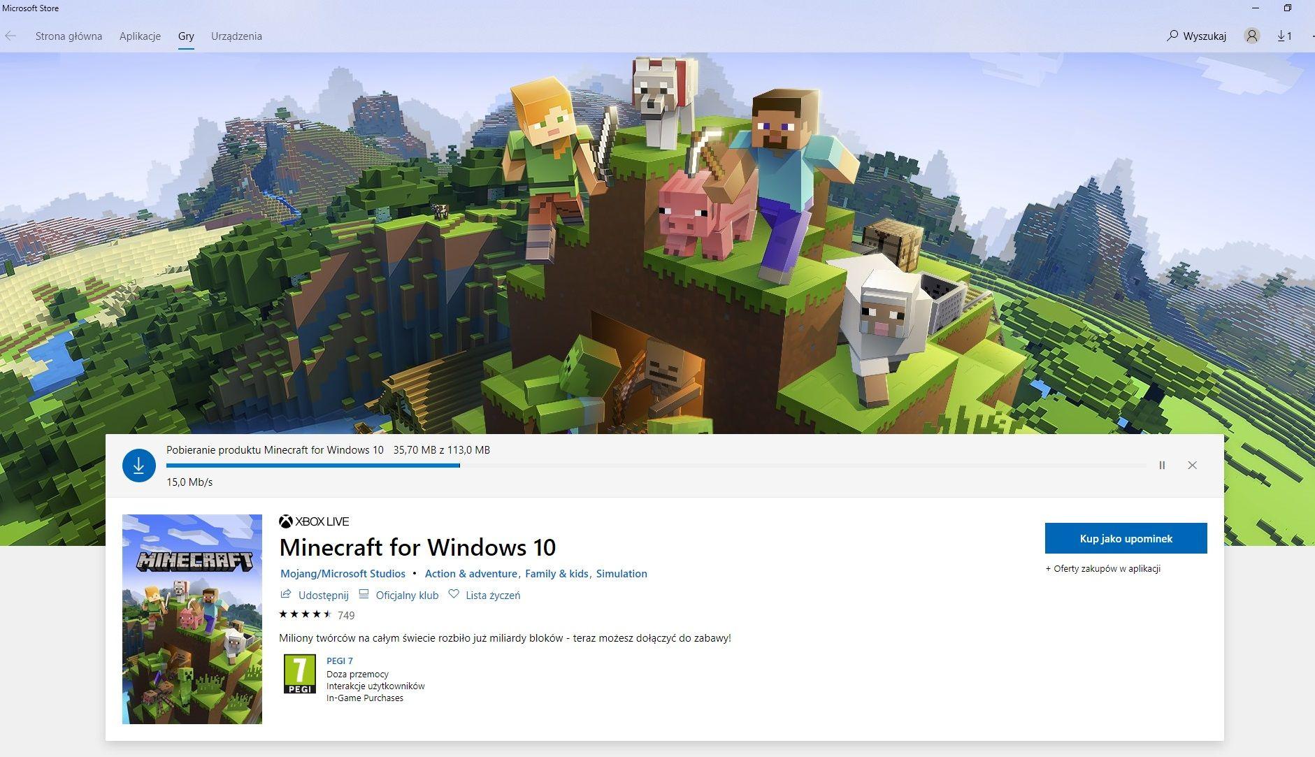 download minecraft beta sklep microsoft store