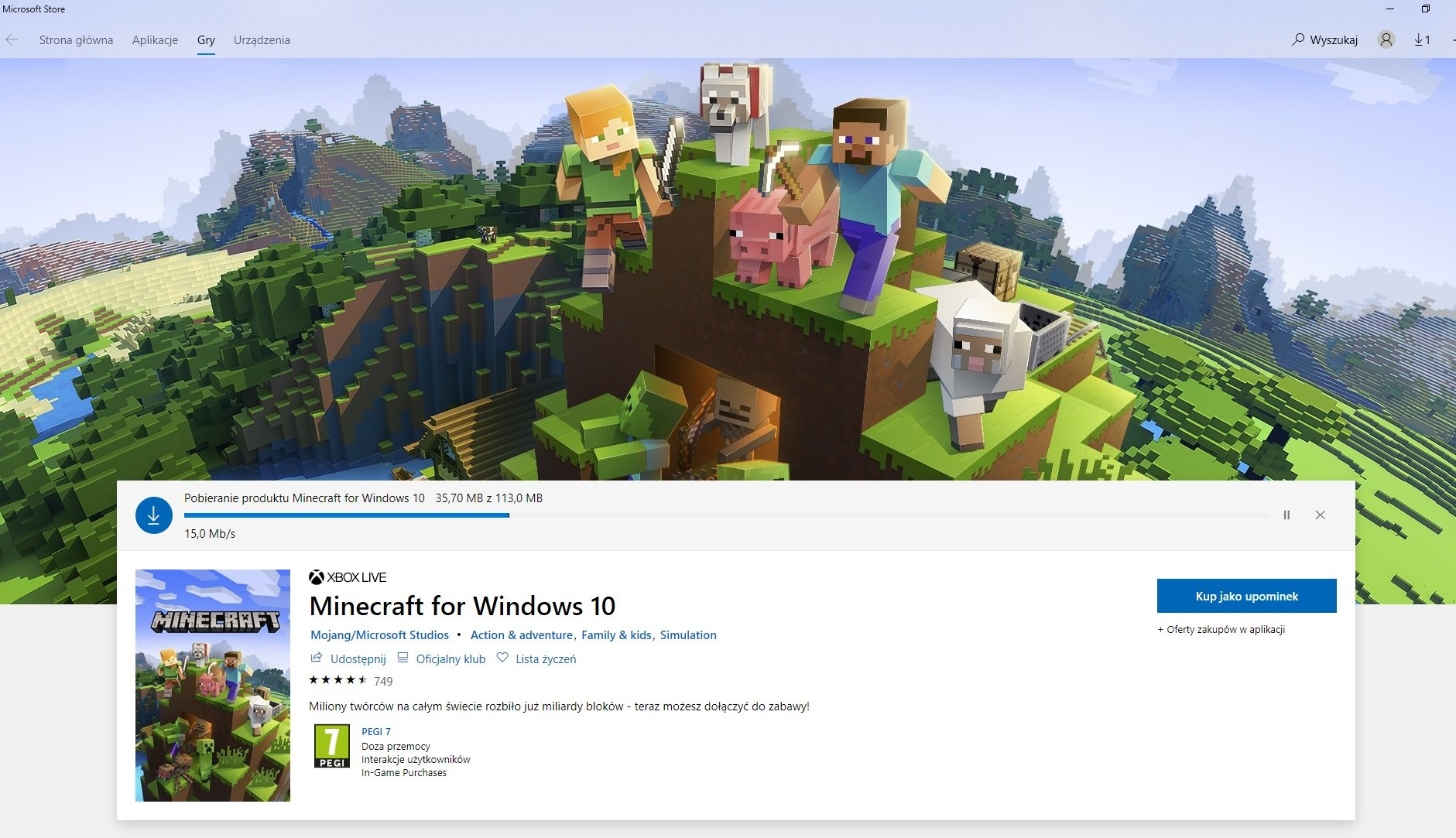 download minecraft beta sklep microsoft store