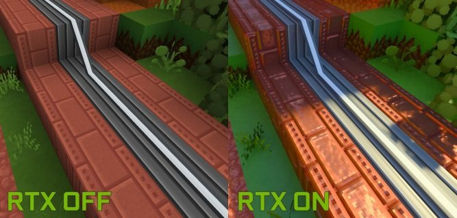 minecraft RTX beta ON OFF img1
