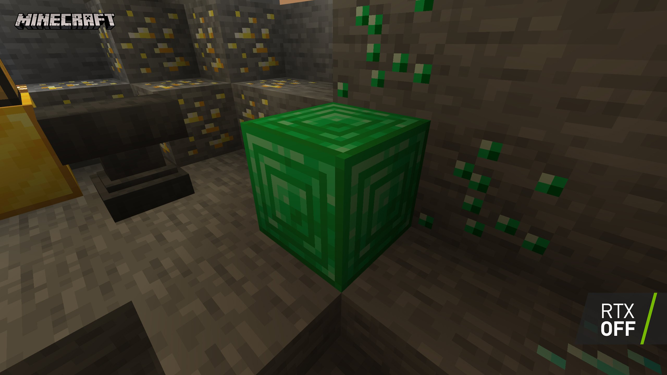 minecraft with rtx beta crystal palace emissive blocks 001 rtx off