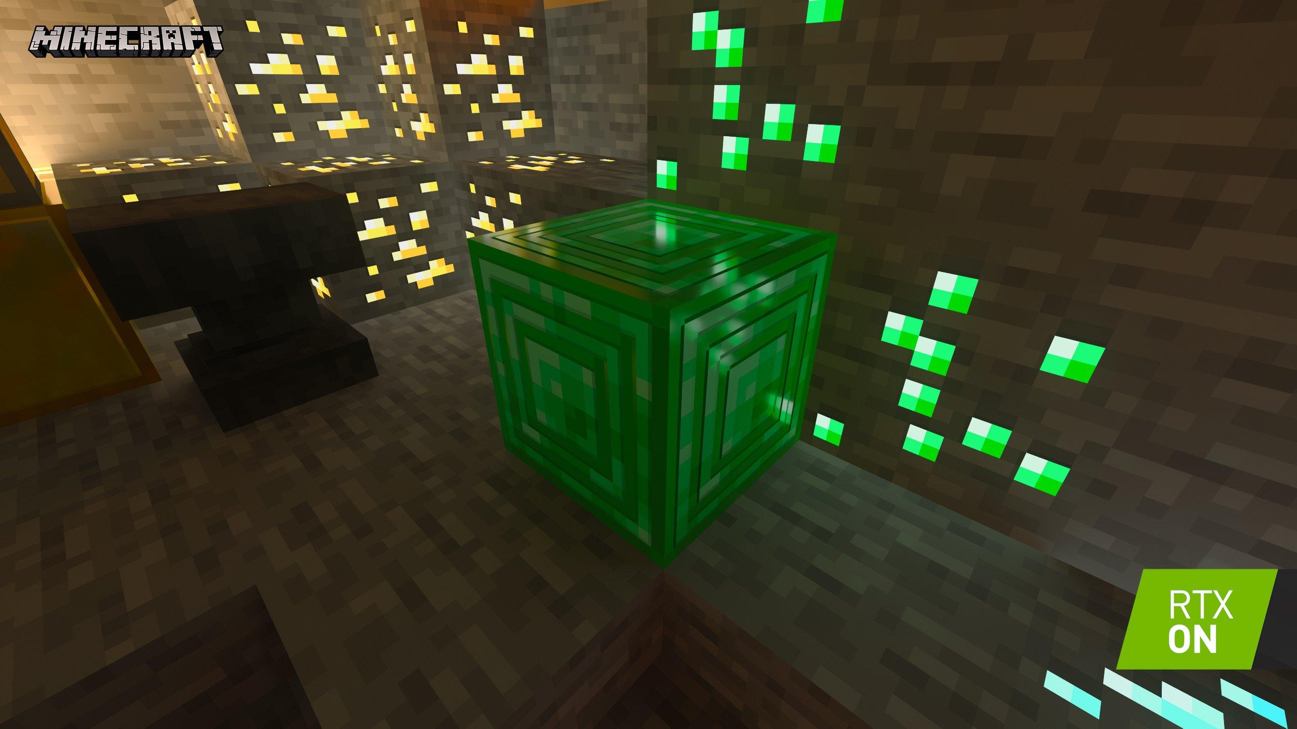 minecraft with rtx beta crystal palace emissive blocks 001 rtx on