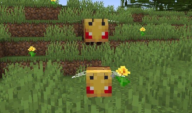 agresywne pszczoly minecraft 1.15