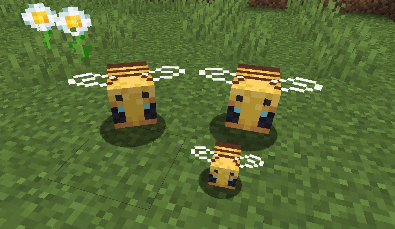 dorosle pszczoly i mala pszczola minecraft zdj 2