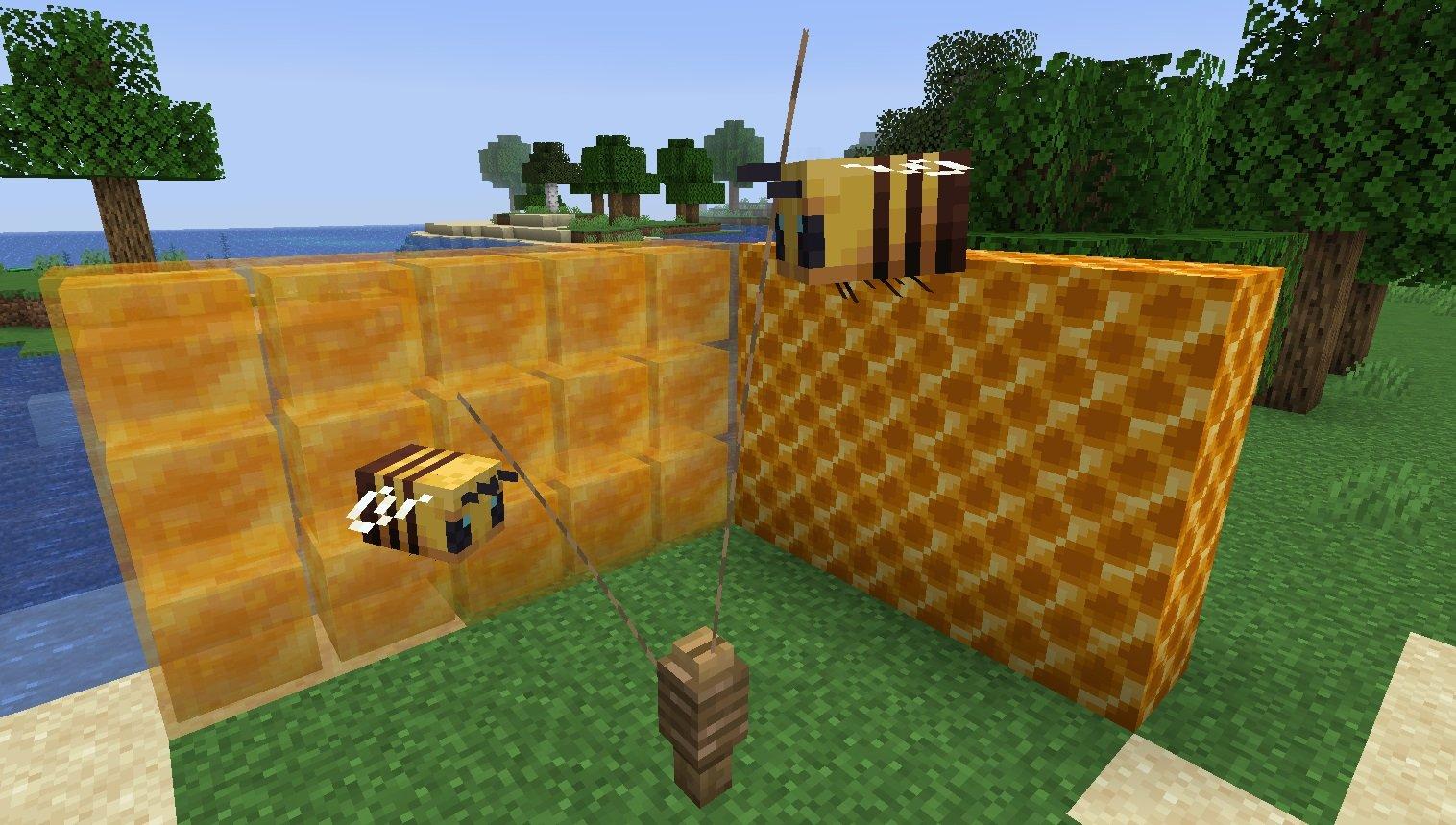 pszczoly miod minecraft 1.15 aktualizacja