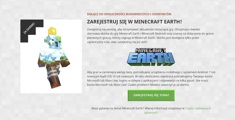 minecon earth rejestracja