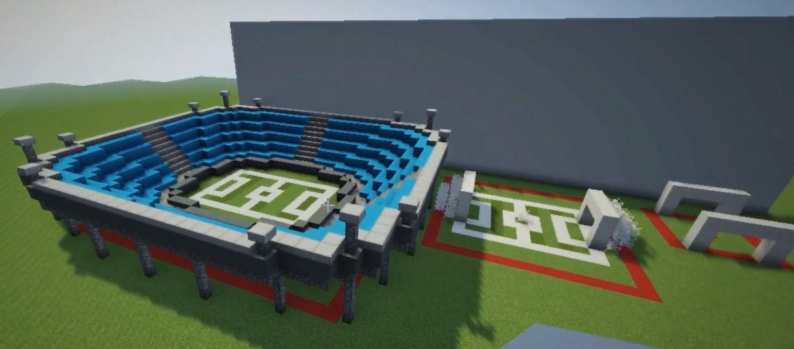 minecraft budujemy 10s 1minute 10minut stadion