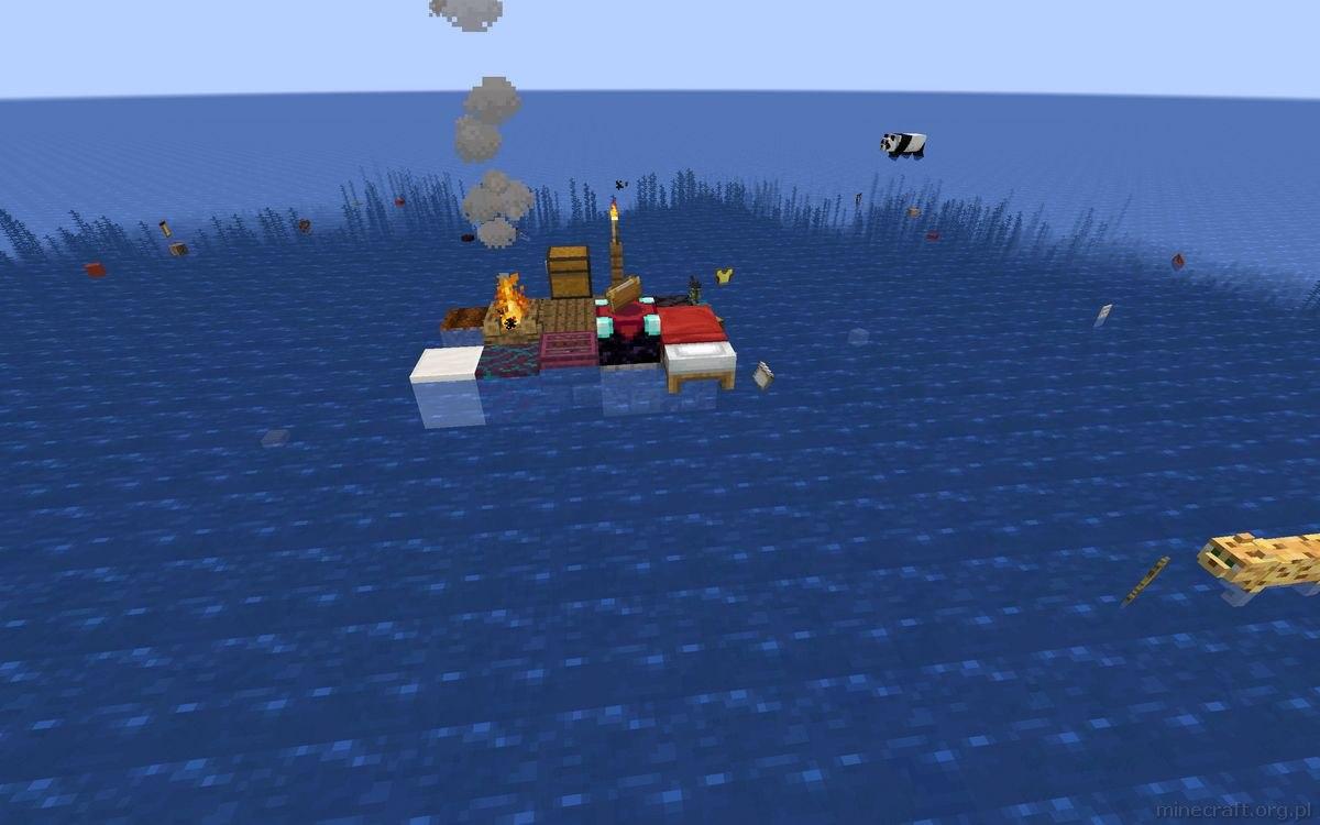 drifting raft minecarft mapa 0