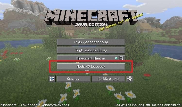 fabric mod menu minecraft guzik do menu modow