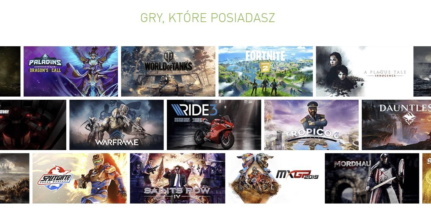 GeForce NOW gry ktore posiadasz