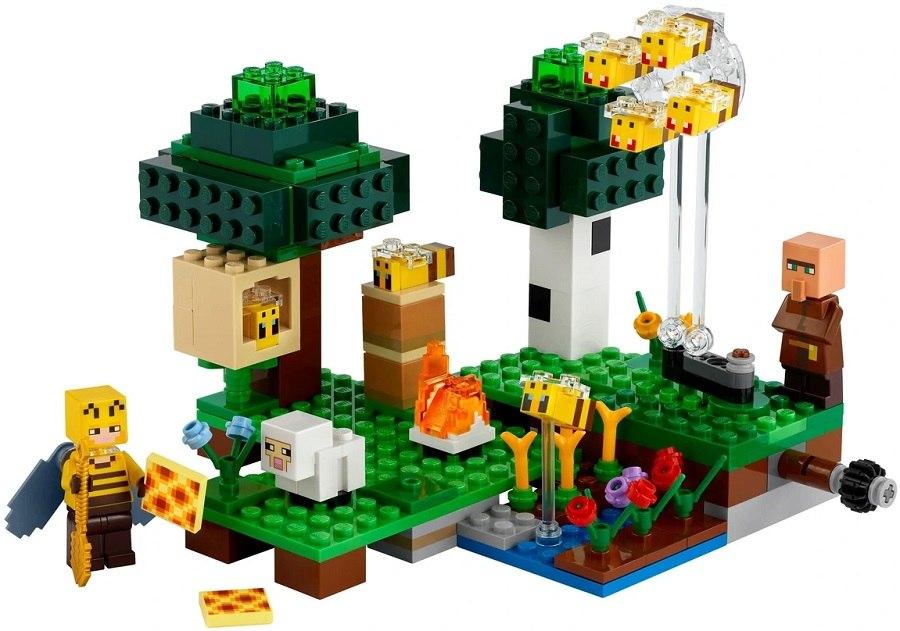 lego minecraft zestaw pasieka 21165