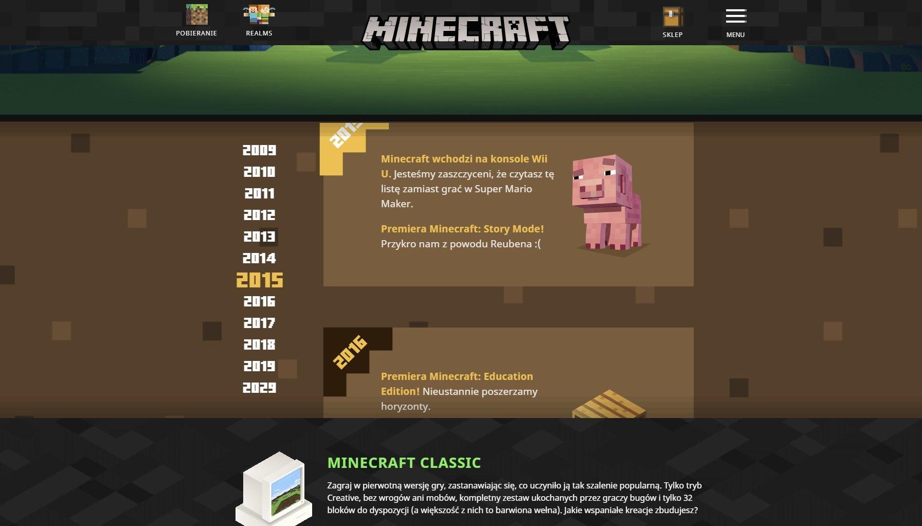 rocznica obchody 10 lat minecraft