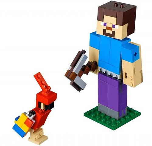 steve z papuga lego minecraft 21148 3