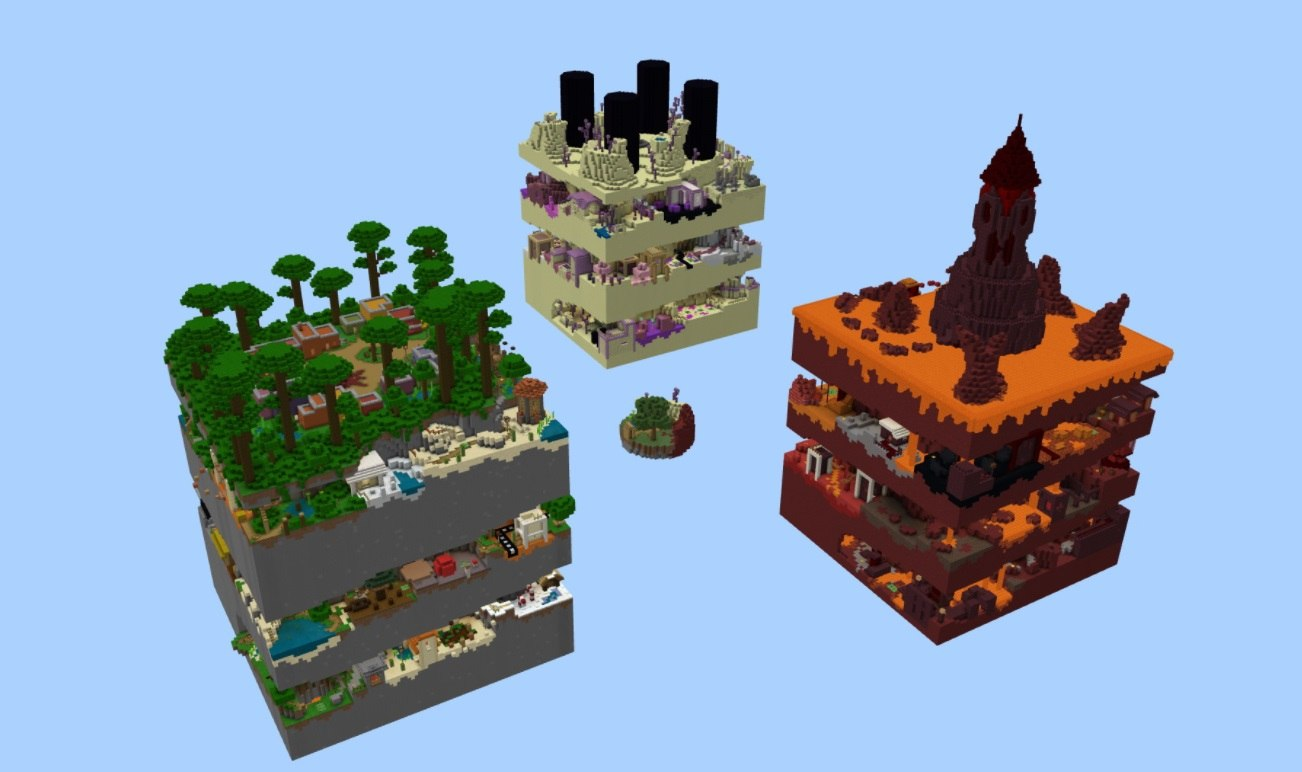 dimension parkour minecraft map by hielkie all dimensions