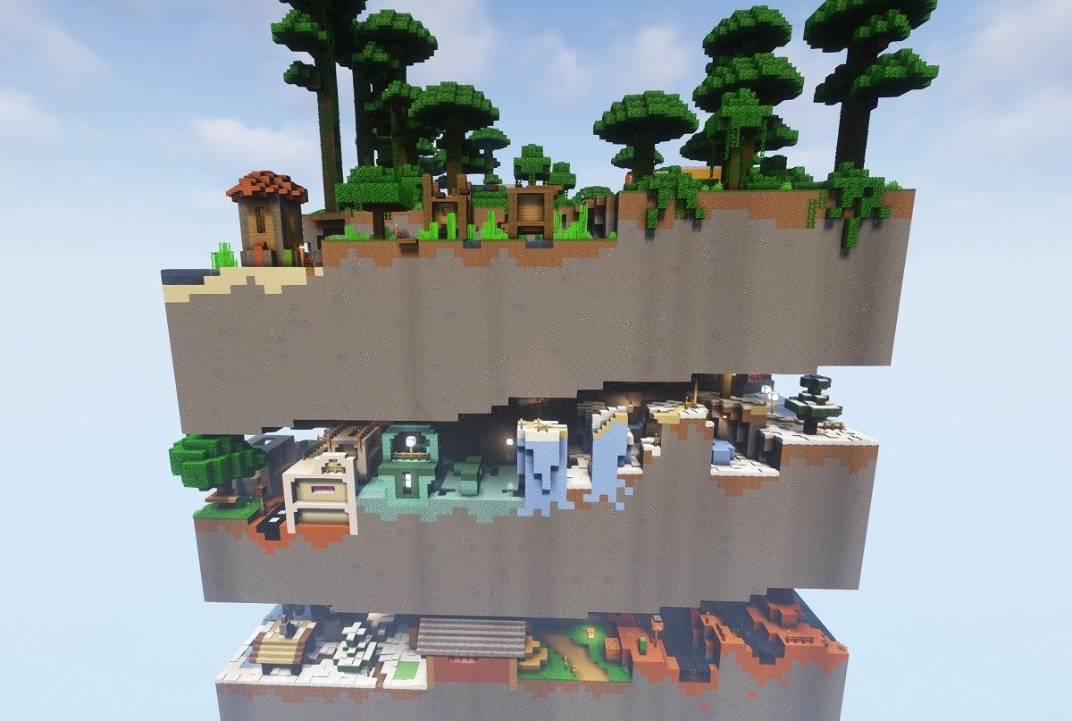 dimension parkour minecraft map by hielkie dimension 1