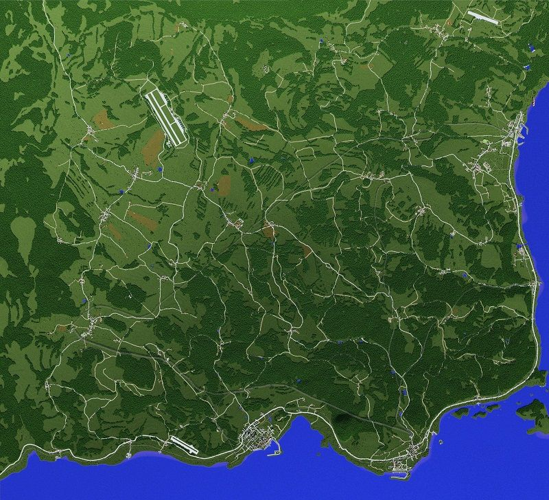 mapa chernarus dayz arma2 minecraft cala mapa podglad