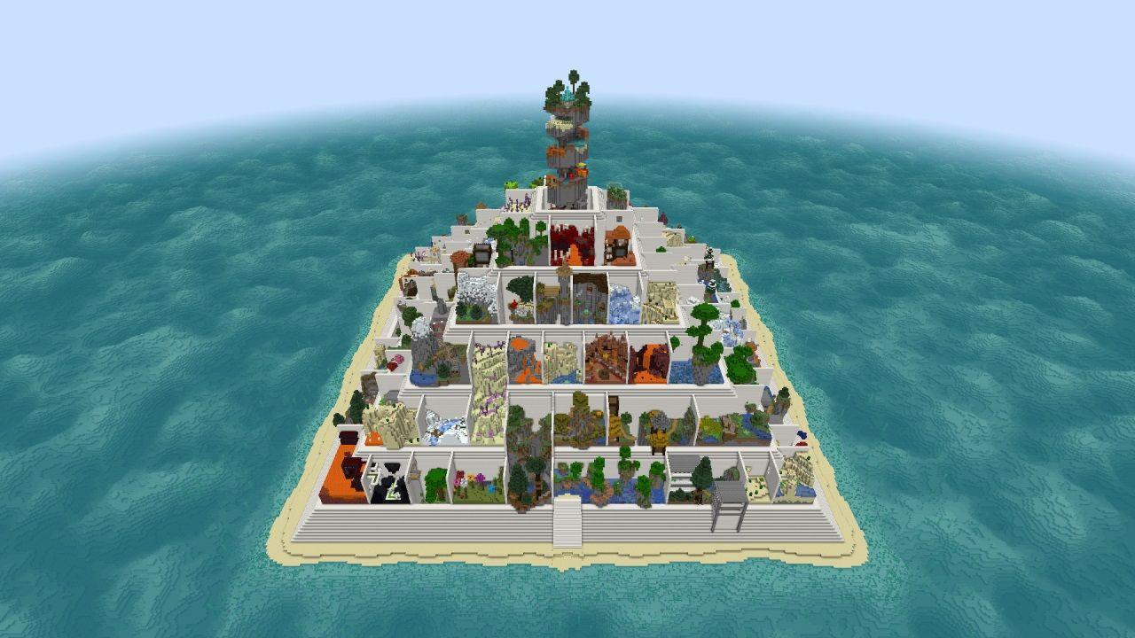 piramida parkour 1.13.2 mapa minecraft