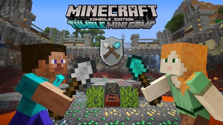 tumble mini game minecraft console spleef